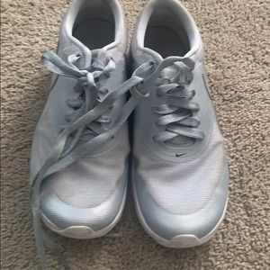 Grey/Silver Nike's